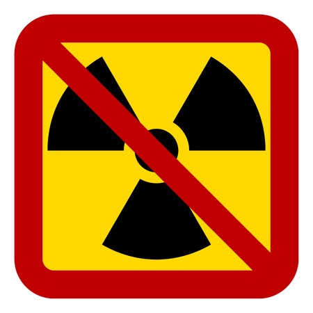 ray ban: No nuclear weapons sign on white background. Vector illustration. Illustration