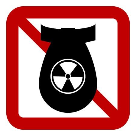 bomb sign: No bomb sign on white background. Vector illustration. Illustration
