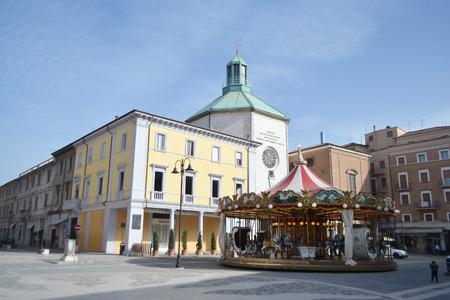 martiri: RIMINI, ITALY - FEBRUARY 16, 2014: The Piazza Tre Martiri in the historic part of Rimini.