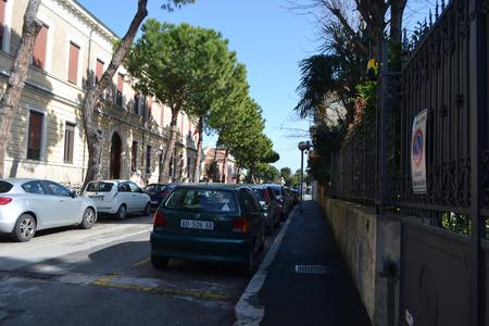 rimini: RIMINI, ITALY - FEBRUARY 21, 2014: Street in the modern part of Rimini.