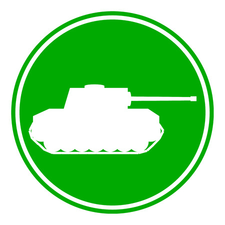 Panzer: Panzer button on white background. Vector illustration. Illustration