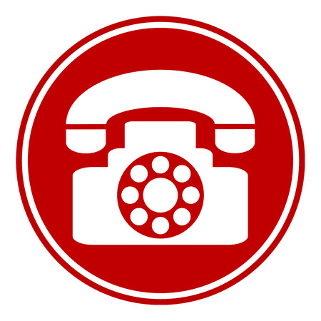 sign not to talk by phone: Phone button on white background. Vector illustration. Illustration