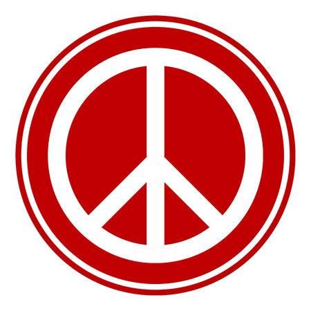 simbolo della pace: Pace pulsante simbolo su sfondo bianco. Illustrazione vettoriale. Vettoriali