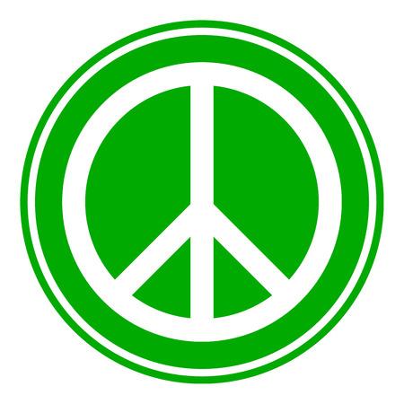 treaty: Peace symbol button on white background. Vector illustration.