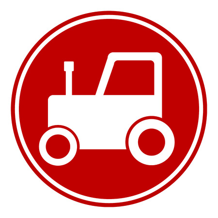 Tractor button on white background. Vector illustration. Vector