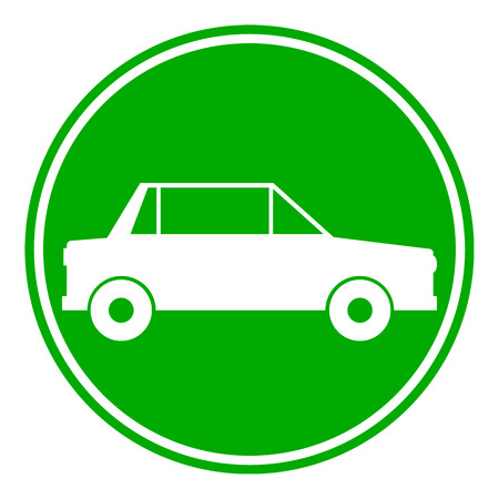 Car button on white background. Vector illustration.