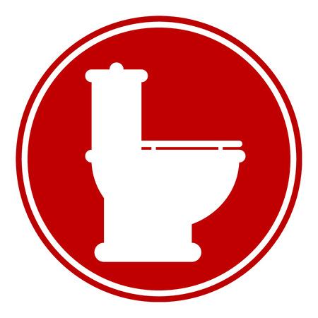 Toilet button on white background.