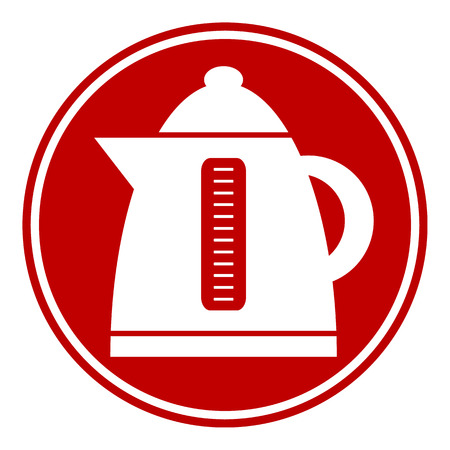 electric kettle: Electric kettle button on white background.