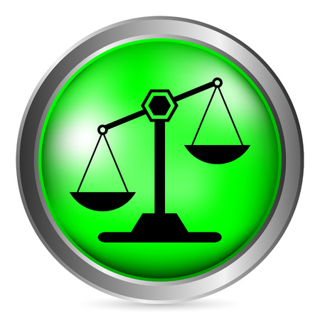 acquittal: Scale button on white background. Vector illustration. Illustration