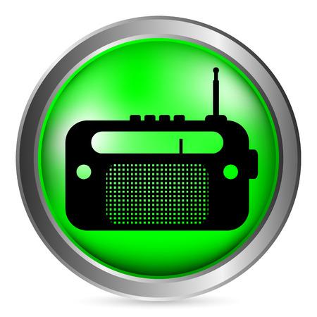 radio button: Pulsante di opzione su sfondo bianco. Illustrazione vettoriale.