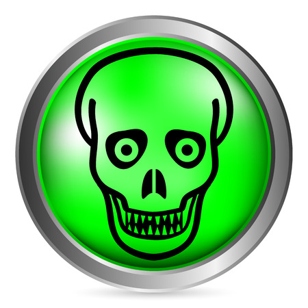 surviving: Zombie button on white background. Vector illustration. Illustration