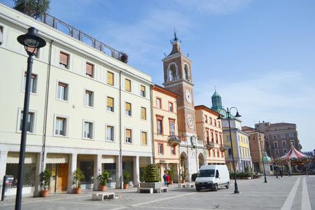 martiri: The Piazza Tre Martiri in the historic part of Rimini.
