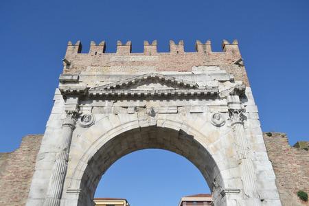 rimini: Arch of Augustus in Rimini, Italy.