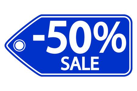 Sale sticker on white background. Vector illustration. Vector
