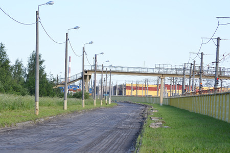 and st petersburg: Street in the industrial outskirts of St. Petersburg, Russia.