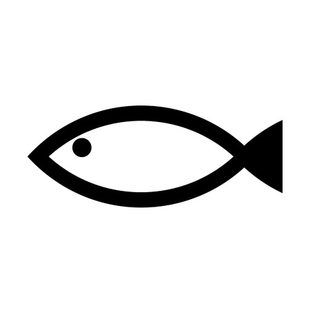 fishy: Fish icon on white background. Vector illustration.