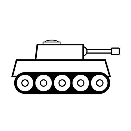 turret: Panzer icon on white background.  Illustration
