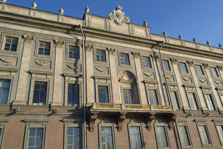 marble palace: The facade of the Marble Palace at the Palace Embankment in St.Petersburg, Russia.