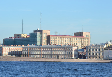 repression: Embankment of Neva River and Building of FSB in St.Petersburg, Russia.