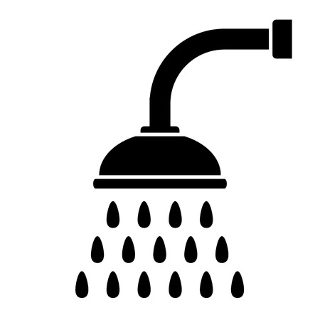 Shower icon on white background. Vector illustration. Illustration