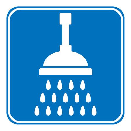 Shower icon on white background. Vector illustration. Illustration