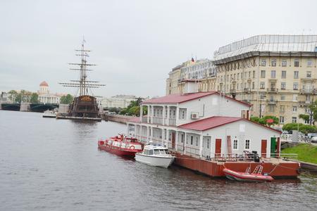embankment: Embankment of Neva River in center of St.Petersburg, Russia.