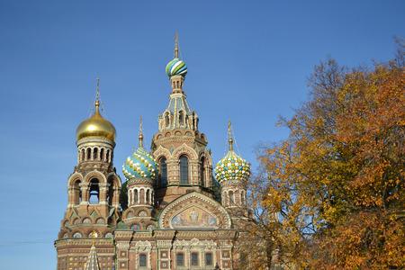 na: Orthodox cathedral Spas na Krovi in St.Petersburg, Russia.