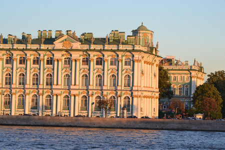The Winter Palace at evening, St.Petersburg, Russia. The State Hermitage Museum.