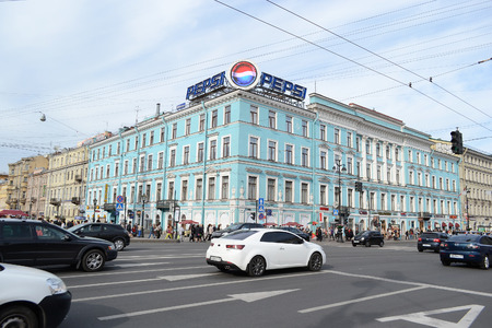 prospect: ST.PETERSBURG, RUSSIA - 24 MAY, 2012: Nevsky Prospect - the main street of St.Petersburg.