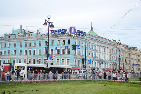 nevsky prospect: ST.PETERSBURG, RUSSIA - 24 MAY, 2012: Nevsky Prospect - the main street of St.Petersburg.
