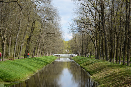 selo: Canal in Catherine park in Tsarskoe Selo, St.Petersburg, Russia.