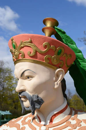 ST.PETERSBURG, RUSSIA - MAY 13, 2012: Statue of Chinese men in Tsarskoye Selo, suburb of St. Petersburg.
