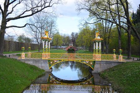 alexander: Bridge in the Alexander park in Tsarskoe Selo, Russia.