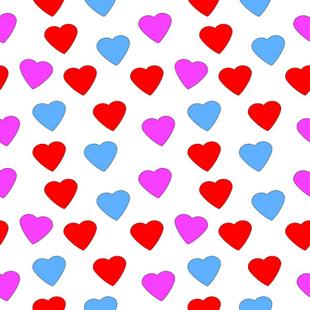 heart seamless pattern: Love heart seamless pattern on white background.