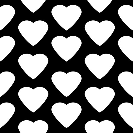heart seamless pattern: Love heart seamless pattern on black background.