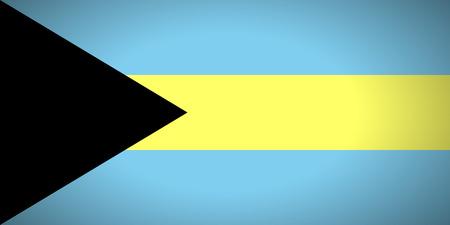 bahamas: Flag of Bahamas. Vector illustration.