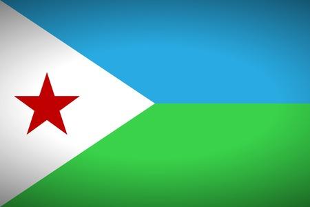 Flag of Djibouti. Vector illustration.