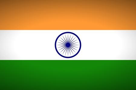 flag vector: Flag of India. Vector illustration.
