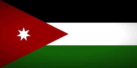 jordanian: Vlag van Jordanië. Vector illustratie.