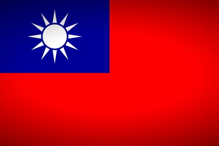 the republic of china: Flag of Republic of China. Vector illustration.