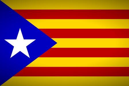 autonomia: Bandera de Catalu�a. Ilustraci�n del vector. Vectores