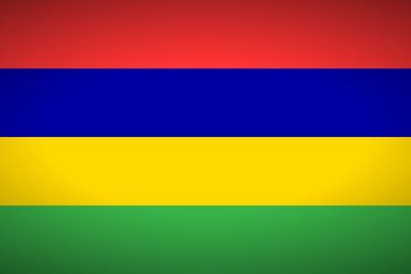 mauritius: Flag of Mauritius. Vector illustration.