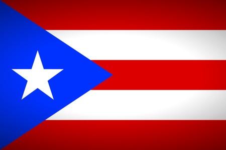 bandera de puerto rico: Bandera de Puerto Rico. Ilustraci�n del vector. Vectores