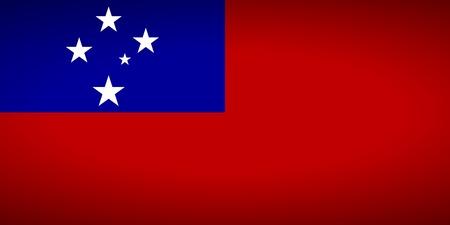 samoa: Flag of Samoa. Vector illustration. Illustration