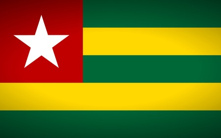 togo: Flag of Togo. Vector illustration. Illustration