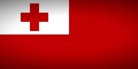 tonga: Flag of Tonga. Vector illustration.