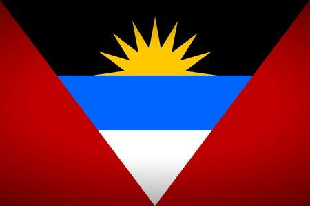 antigua: Flag of Antigua and Barbuda. Vector illustration. Illustration