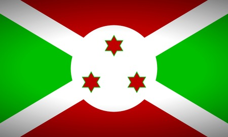 burundi: Flag of Burundi. Vector illustration.