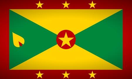 antilles: Flag of Grenada. Vector illustration. Illustration