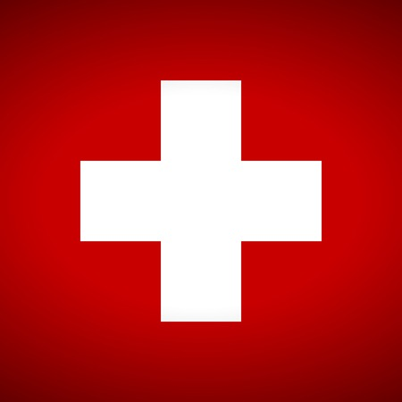 swiss flag: Flag of Swiss. Vector illustration.